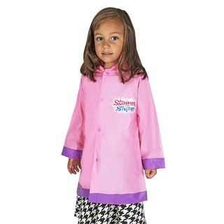 Nickelodeon Toddler Girls' Shimmer & Shine Pink Vinyl Rain Slicker