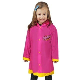 Shopkins Girls Pink 'I love SPK' Sizes 2-7 Toddler Rain Slicker