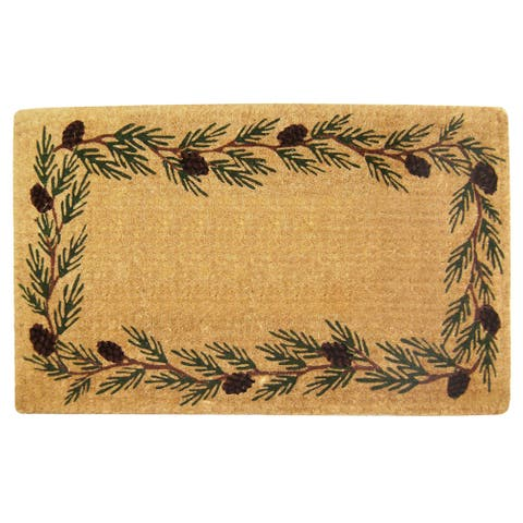 Heavy Duty Coir Decorative Evergreen Border Doormat