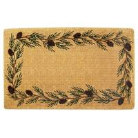 Heavy Duty Coir Decorative Evergreen Border Doormat