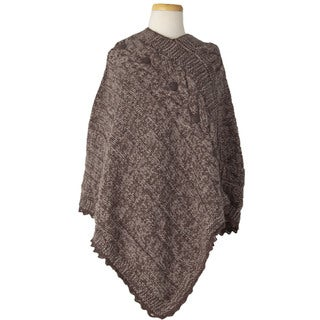 Laundromat Women's Veronique Tan Wool Poncho