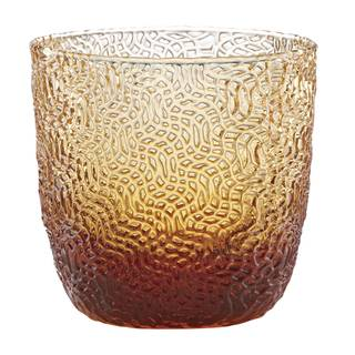 Lenox Creekside Amber Glass Double Old Fashion Tumbler