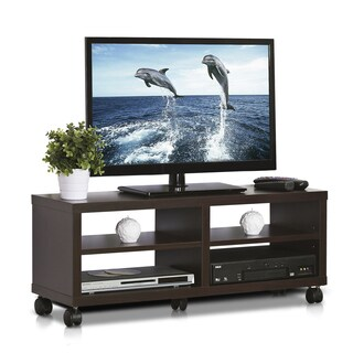 Furinno Indo Espresso 3-tier Low Rise Tatami TV Entertainement Stand
