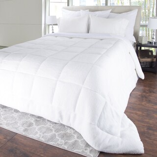 Windsor Home Oversized Sherpa Reversible Down Alternative Comforter