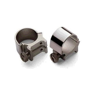 Weaver Detachable Matte Black 1-inch Low Top-mount Rings