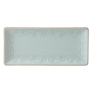 Lenox French Perle White Stoneware Rectangular Tray