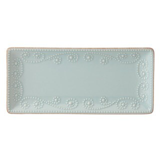 Lenox French Perle White Stoneware Rectangular Tray