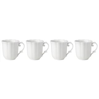 Lenox Butterfly Meadow Solid White Porcelain Dessert Mugs (Pack of 4)