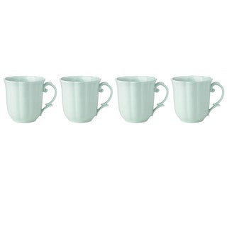 Lenox Butterfly Meadow Mint Green Porcelain Dessert Mug Set (Pack of 4)