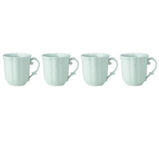 Lenox Butterfly Meadow Mint Green Porcelain Dessert Mug Set (Pack Of 4)
