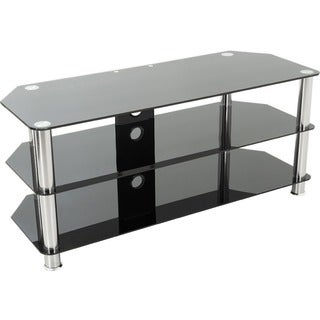 AVF SDC1140CM-A: Classic - Corner Glass TV Stand with Cable Mangement