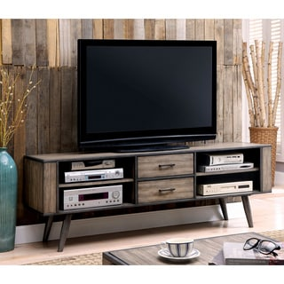 Furniture of America Bradensbrook Mid-Century Modern Industrial Style Metal 72-inch TV Stand