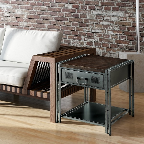 Shop Furniture Of America Starke Industrial Style Grey