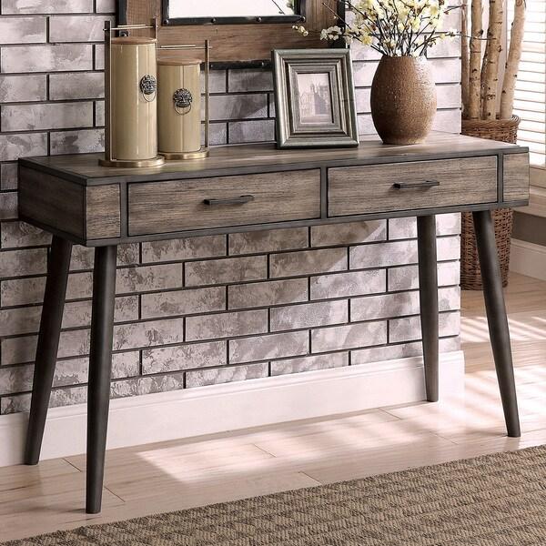 Mid Century Sofa Table: Shop Bradensbrook Mid-century Modern Grey 2-drawer Sofa