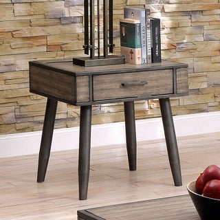 Furniture of America Bradensbrook Mid-Century Modern Industrial Style Metal 1-drawer End Table