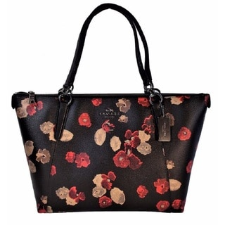 Coach Ava Halftone Floral Print Coated Canvas Tote Bag