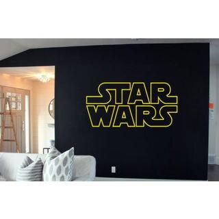 Star Wars Logo Decal Sticker ATAT Death Art Wall Decals Wall Sticker Decal Size 22x30 Color Black