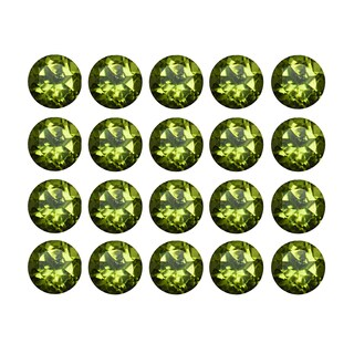 Natural 4mm Round-cut 6ctw Peridot Gemstone (Set of 20)