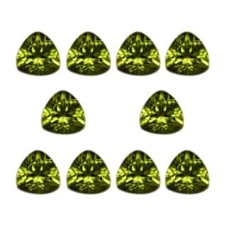 Natural 6mm Trillion-cut 8.34ct Peridot Gemstone (Set of 10) https://ak1.ostkcdn.com/images/products/13693428/P20356194.jpg?impolicy=medium