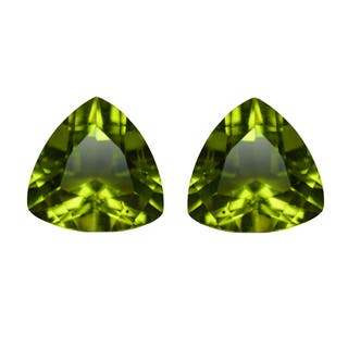 Natural 9mm Trillion-cut 4.5ctw Peridot Gemstone (Set of 2) https://ak1.ostkcdn.com/images/products/13693434/P20356195.jpg?impolicy=medium