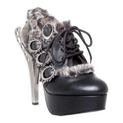 Women's Hades Monarch Steampunk Fur Heel Black