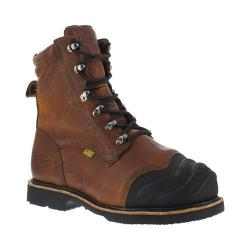 Men's Iron Age Thermo Shield 8in Smelter's Work Boot Dark Brown Full Grain Leather