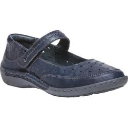 Women's Propet Julene Mary Jane Navy Full Grain Sheep Leather
