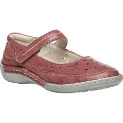Women's Propet Julene Mary Jane Pink Full Grain Sheep Leather