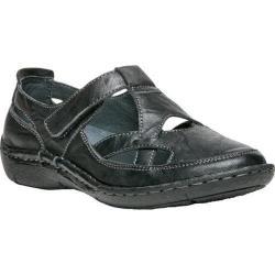 Women's Propet Caylee Slip On Shoe Black Full Grain Sheep Leather