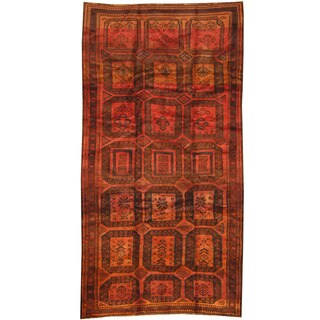 Herat Oriental Afghan Hand-knotted Tribal Balouchi Wool Rug (5' x 9'6)