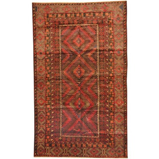 Herat Oriental Afghan Hand-knotted Tribal Balouchi Wool Rug (6' x 10')