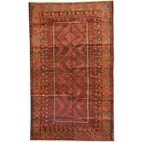 Herat Oriental Afghan Hand-knotted Tribal Balouchi Wool Rug (6' x 10')