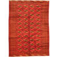 Herat Oriental Afghan Hand-knotted Tribal Balouchi Wool Rug (6'6 x 9')