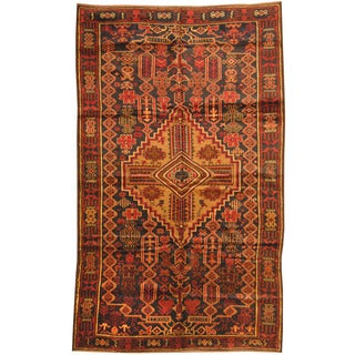 Herat Oriental Afghan Hand-knotted Tribal Balouchi Wool Rug (7' x 9'8)