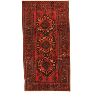 Herat Oriental Afghan Hand-knotted Tribal Balouchi Wool Rug (5' x 10')