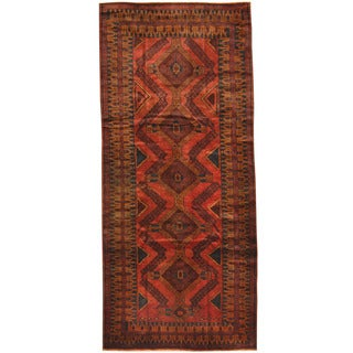 Herat Oriental Afghan Hand-knotted Tribal Balouchi Wool Rug (4'6 X 10'2)
