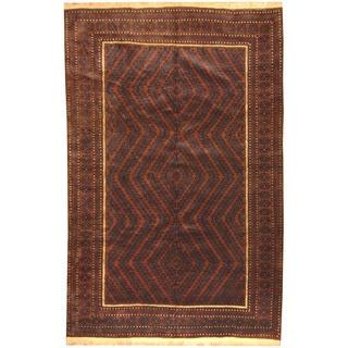 Herat Oriental Afghan Hand-knotted Tribal Balouchi Wool Rug (6'4 x 9'9)