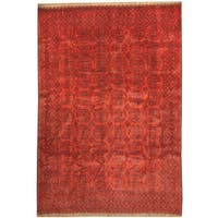 Herat Oriental Afghan Hand-knotted Tribal Turkoman Wool Rug (6'9 x 9'9)