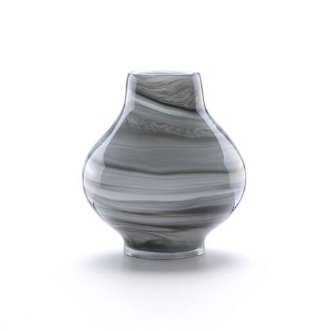 Lenox Novia Grey Crystal Amphora Swirl Vase