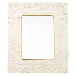Lenox Pierced Paisley gold/Off-white Porcelain 5-inch x 7-inch Picture Frame