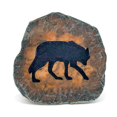 Puzzled The Wild Collection Resin Wolf Coaster