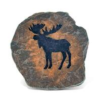 Puzzled 'Wild Moose' Multicolored Resin/Stone Coaster Decor