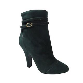 Dolce & Gabbana Green Suede Short Boots