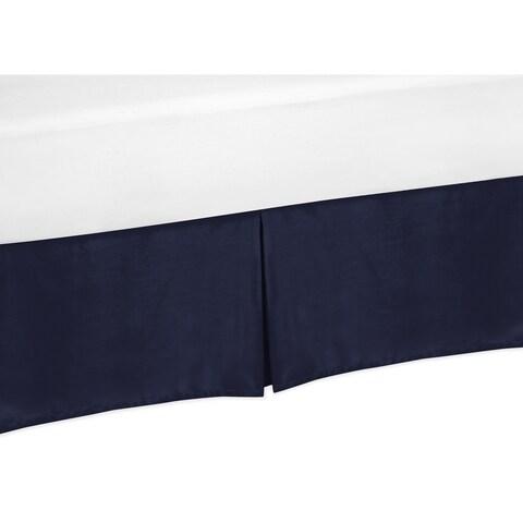 Sweet Jojo Designs Solid Navy Queen Bed Skirt