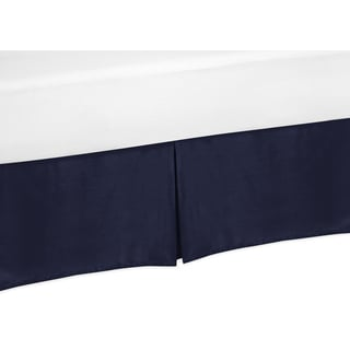 Sweet Jojo Designs Solid Navy Queen Bed Skirt