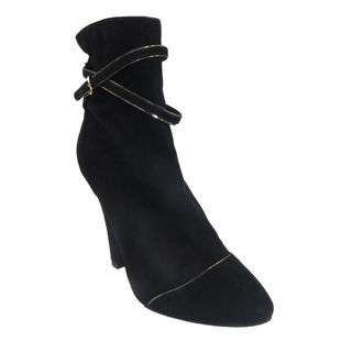 Dolce & Gabbana Black Suede Short Boots (Size 6)