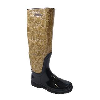 Dolce & Gabbana Beige Rain Boots