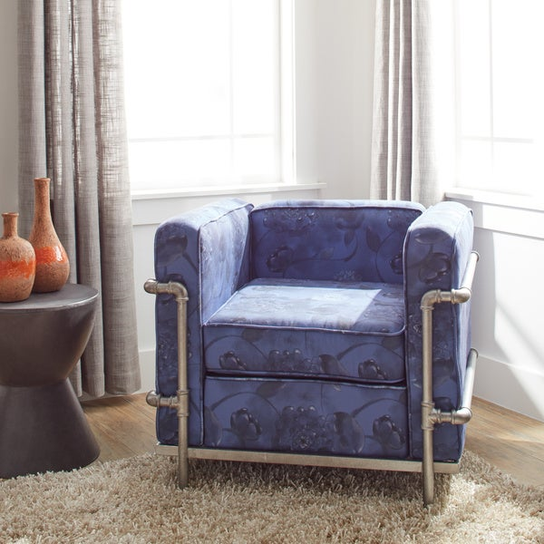 Shop Industrial Blooms Pipe Chair Luxe Blue Free