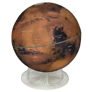 Mars Globe with Fully Updated Map