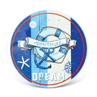 Puzzled Nautical Dream Multicolor Ceramic Coaster